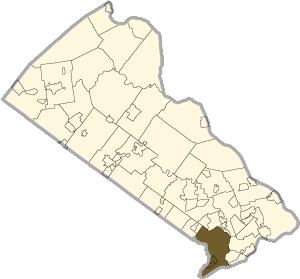 Map of Bensalem, PA